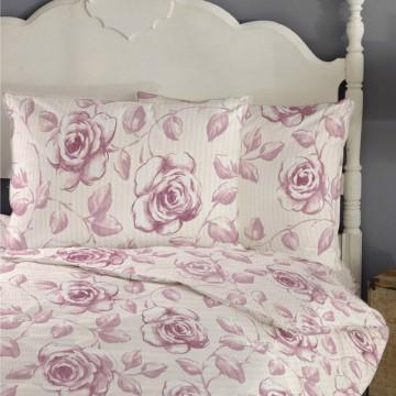 Lenjerii creponate de pat cu desene florale Embroidery