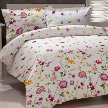 Lenjerii creponate de pat cu desene florale Gardenia v2