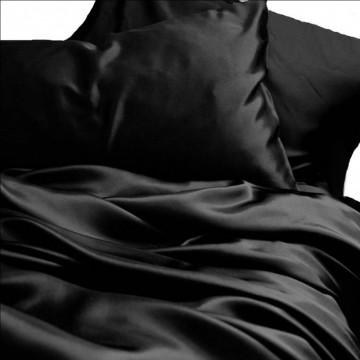 Lenjerie de pat Satin Deluxe unicolor - Black